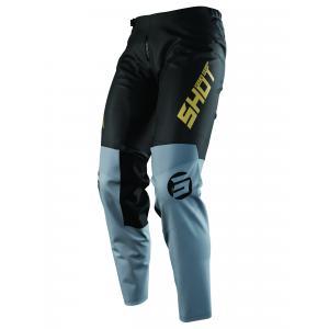 Detské motokrosové nohavice Shot Devo Storm čierno-šedo-zlaté