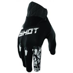 Detské motokrosové rukavice Shot Devo Slam čierne