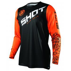 Detský motokrosový dres Shot Devo Slam čierno-bielo-oranžový