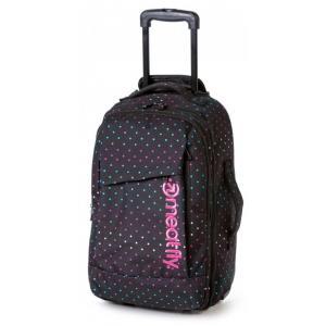 Kufor Meatfly Revel Trolley Bag čierno-ružový