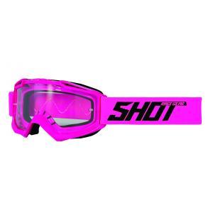 Motokrosové okuliare Shot Assault Solid fluorescenčno ružové