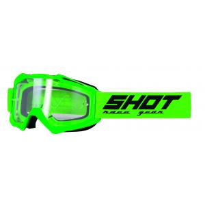 Motokrosové okuliare Shot Assault Solid fluorescenčno zelené