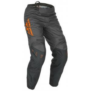 Motokrosové nohavice FLY Racing F-16 2021 šedo-oranžové