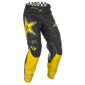 Motokrosové nohavice FLY Racing Kinetic Rockstar 2021 žlto-čierne