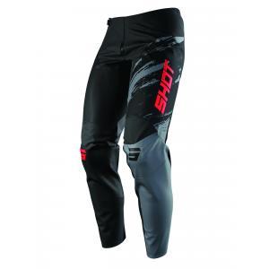 Motokrosové nohavice Shot Contact Draw čierno-červené