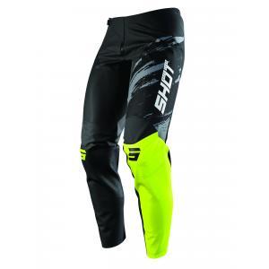 Motokrosové nohavice Shot Contact Draw čierno-fluorescenčno žlté
