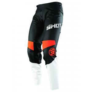 Motokrosové nohavice Shot Devo Slam čierno-bielo-oranžové