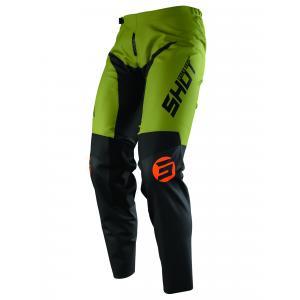 Motokrosové nohavice Shot Devo Storm čierno-khaki zelené