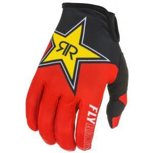 Motocrossové rukavice FLY Racing Lite 2021 Rockstar čierno-červeno-žlté