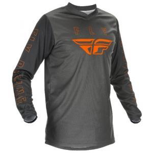 Motokrosový dres FLY Racing F-16 2021 šedo-oranžový
