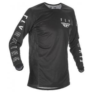 Motokrosový dres FLY Racing Kinetic K121 2021 čierno-biely