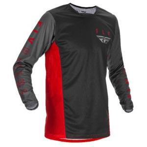 Motokrosový dres FLY Racing Kinetic K121 2021 červeno-šedo-čierny výpredaj