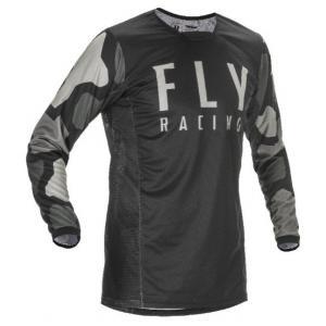 Motokrosový dres FLY Racing Kinetic K221 2021 čierno-šedý