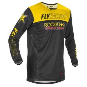 Motokrosový dres FLY Racing Kinetic Rockstar 2021 žlto-čierny