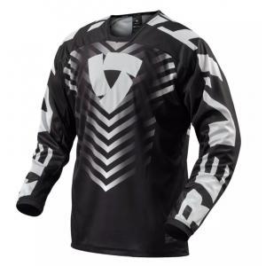 Motokrosový dres Revit Rough čierno-biely