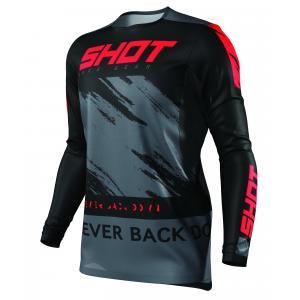Motokrosový dres Shot Contact Draw čierno-červený