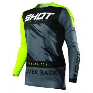 Motokrosový dres Shot Contact Draw čierno-fluorescenčno žltý