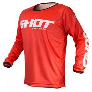 Motokrosový dres Shot Devo Raw červený