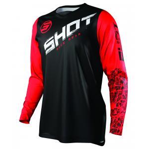 Motokrosový dres Shot Devo Slam čierno-bielo-červený