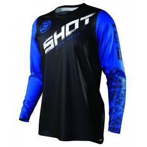 Motokrosový dres Shot Devo Slam čierno-bielo-modrý