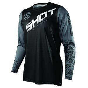 Motokrosový dres Shot Devo Slam čierno-bielo-šedý