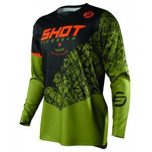 Motokrosový dres Shot Devo Storm čierno-khaki zelený