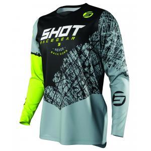Motokrosový dres Shot Devo Storm čierno-šedo-fluorescenčno žltý