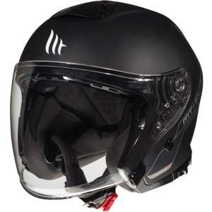Otvorená prilba na motocykel MT Thunder 3 SV Solid čierna matná - II. akosť