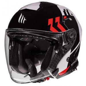 Otvorená prilba na motocykel MT Thunder 3 SV Venus čierno-bielo-červená - II. akosť