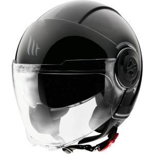 Otvorená prilba na motocykel MT Viale čierna lesklá