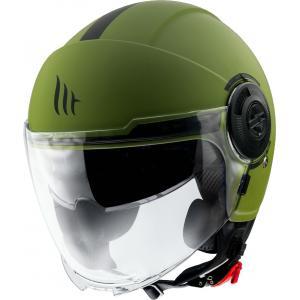 Otvorená prilba na motocykel MT Viale zelená matná
