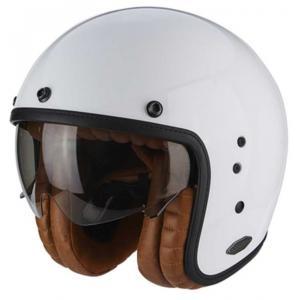 Otvorená prilba na motocykel Scorpion Belfast Luxe biela