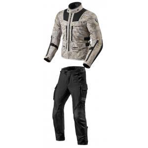 Pánska kombinéza na motocykel Revit Offtrack pieskovo-čierna