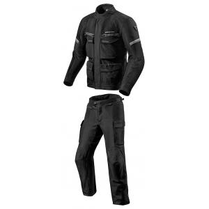 Pánska kombinéza na motocykel Revit Outback 3 čierno-strieborná