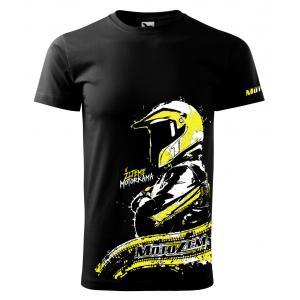 Pánske tričko MotoZem - Žijeme motorkama
