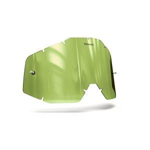 Plexisklo Onyx pre motokrosové okuliare 100 % Racecraft/Accuri/Strata (Hi-Vis žlté s polarizáciou)