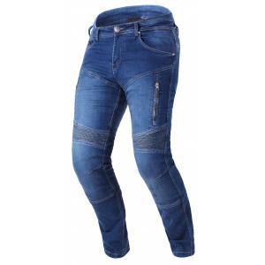 Predĺžené jeansy na motocykel Street Racer Basic II CE modré