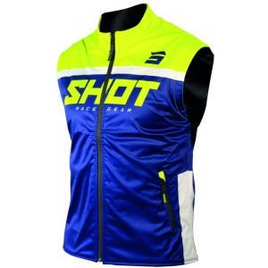 Softshellová vesta Shot Lite modro-fluorescenčno žltá