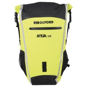 Batoh odolný proti vode Oxford Aqua B25 čierno-fluorescenčno žltý 25 l