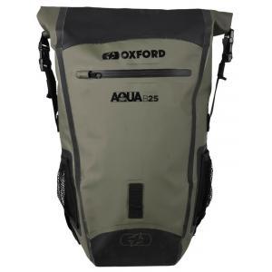 Batoh odolný proti vode Oxford Aqua B25 čierno-khaki zelený 25 l