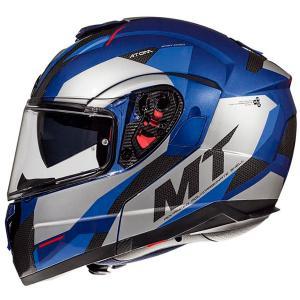 Odklápacia prilba na motocykel MT Atom SV TRANSCEND E7 modrá