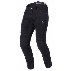 Skrátené jeansy na motocykel Street Racer Stretch II CE čierne