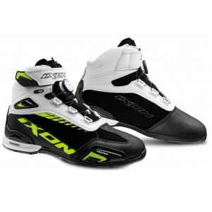 Topánky na motocykel IXON Bull WP čierno-bielo-fluo žlté