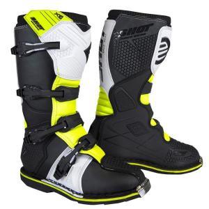 Čižmy na motocykel Shot X10 2.0 bielo-fluo žlté