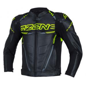 Bunda na motocykel Ozone RS600 čierno-fluorescenčno žltá