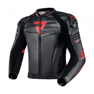 Bunda na motocykel Rebelhorn Vandal čierno-červená