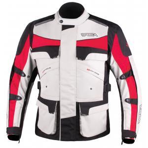 Bunda na motocykel RSA Tiger čierno-šedo-červená - II. akosť