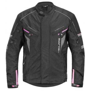 Dámska bunda na motocykel 4SQUARE Roadster čierno-ružová