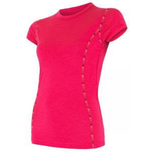 Dámske funkčné tričko Sensor Merino Air ružové - krátky rukáv