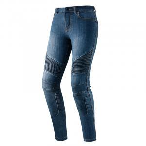 Dámske jeansy na motocykel Rebelhorn Vandal vyprané modré